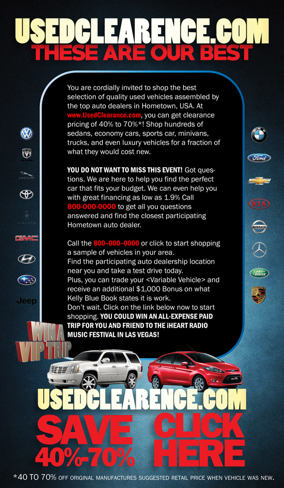 Used Car Email Blast | Brook C. Allen